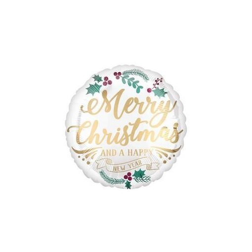 """Karácsonyi fólia lufi 18"""" 45cm Merry Christmas, héliummal töltve, 3831001"""