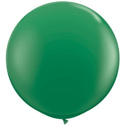 3 feet 91cm latex léggömb zöld, standard green