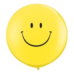 3 feet 91cm latex léggömb Smiley, Emoji, 29211bo