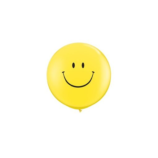 3 feet 91cm latex léggömb Smiley, Emoji, 29211bo