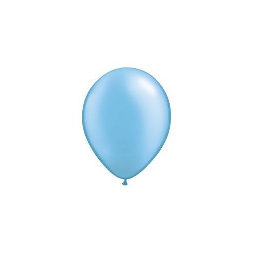 """QUALATEX 11"""" (28cm-es) Latex léggömb, pearl színek gyöngyház azúrkék lufi, pearl azure blue"""