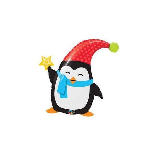 """Óriás fólia lufi 35"""" 89cm Pingvin, 44232, héliummal töltve"""