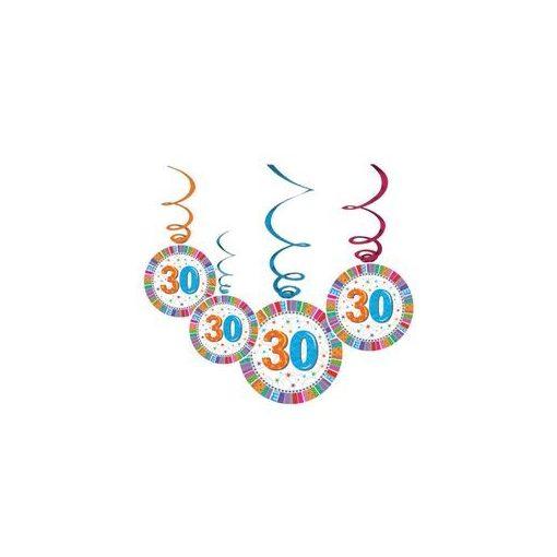 Függő dekoráció, 6db, Radiant, 30-as számmal, 20246