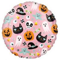 """Fólia lufi 18"""" 45cm Halloween, 3999301, héliummal töltve"""