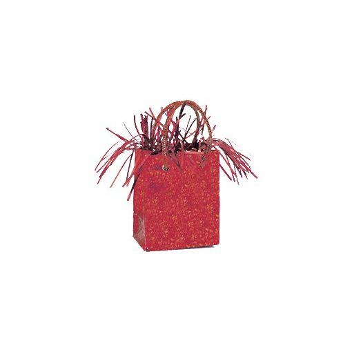 Léggömbsúly, nehezék 160g ajándéktasak forma, piros színben, 49010