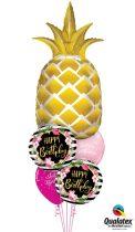 Héliumos luficsokor szülinapra Ananász, Ananas, Happy Birthday - INGYENES KISZÁLLÍTÁSSAL