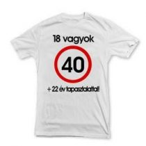 Póló sebességkorlátozó számos felirattal 40-es