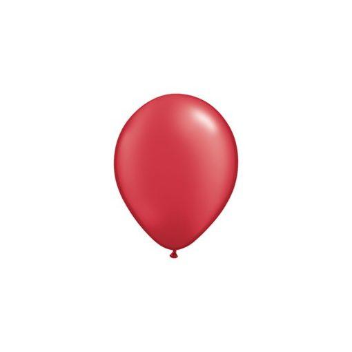 """Lufi QUALATEX 5"""" (13cm-es) gyöngyház (pearl) színek -  100db/csomag - gyöngyház piros, pearl ruby red 43594"""