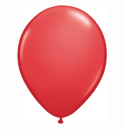 "QUALATEX 16"" (40cm-es) Latex léggömb, standard színek, piros lufi, standard red"