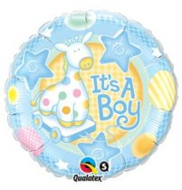 """Fólia lufi 18"""" 45cm - It's a boy, 91299, héliummal töltve"""