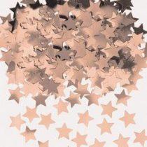 Konfetti fényes rosegold csillag 14g, a9903473