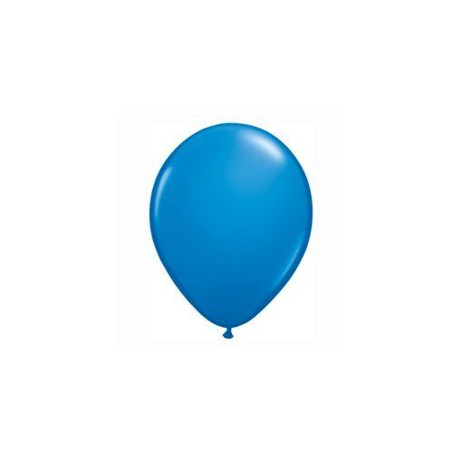"QUALATEX 16"" (40cm-es) Latex léggömb, standard színek, sötétkék lufi, standard dark blue"