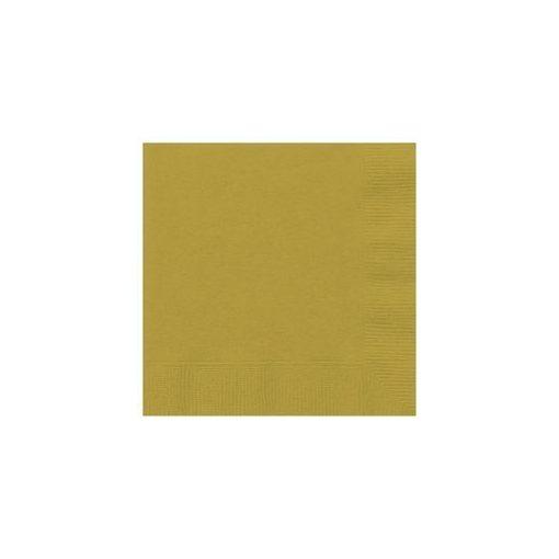 Szalvéta 33x33cm egyszínű 20db  arany p3322