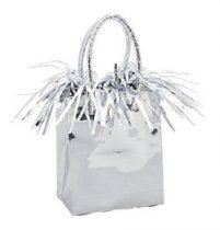 Léggömbsúly, nehezék 160g ajándéktasak forma, ezüst színben, 4985