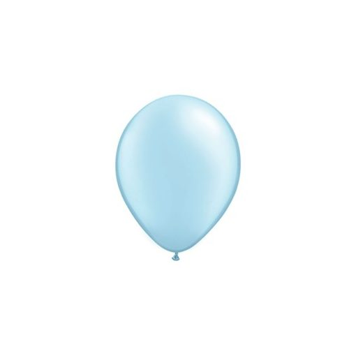 """QUALATEX 11"""" (28cm-es) Latex léggömb, pearl színek gyöngyház világoskék lufi, pearl light blue"""