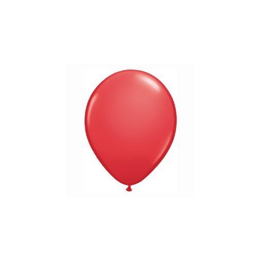 "QUALATEX 11"" (28cm-es) Latex léggömb, standard színek, piros lufi, standard red"