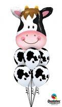 Héliumos luficsokor bármely alkalomra, boci, tehén, cow - INGYENES KISZÁLLÍTÁSSAL