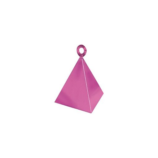 Léggömbsúly, nehezék 110g piramis forma, rózsaszín színben, 14402