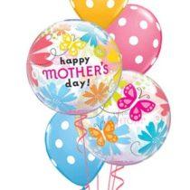 Héliumos luficsokor Anyák napjára, Happy Mothers day - INGYENES KISZÁLLÍTÁSSAL